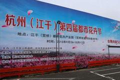 杭州(江干)第四届都市花卉节开幕 政府企业欲形成多元化都市精品花卉苗木产业群