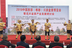 2018中国西部(郫都)花卉盆景博览会开幕