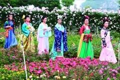 第三届叠彩花卉旅游文化艺术节暨2018旗袍文化艺术节昨开幕